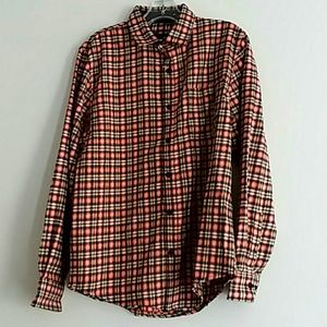 Tallwoods Bruno Milano flannel check shirt S nwt